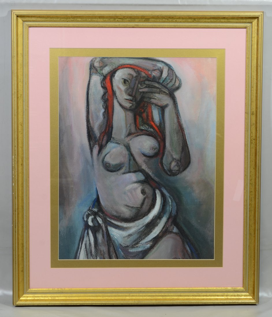 G Ralph Smith (1941 - 2010) gouache painting of a nude - 2