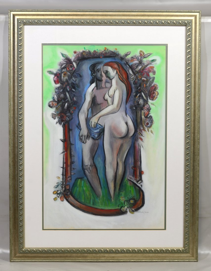 G Ralph Smith (1941 - 2010) gouache painting of nudes - 2