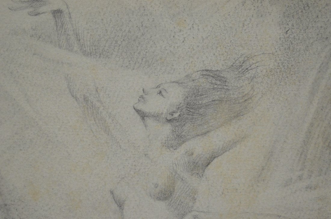 Arthur Meltzer (1893 - 1989) pencil drawing of female - 4