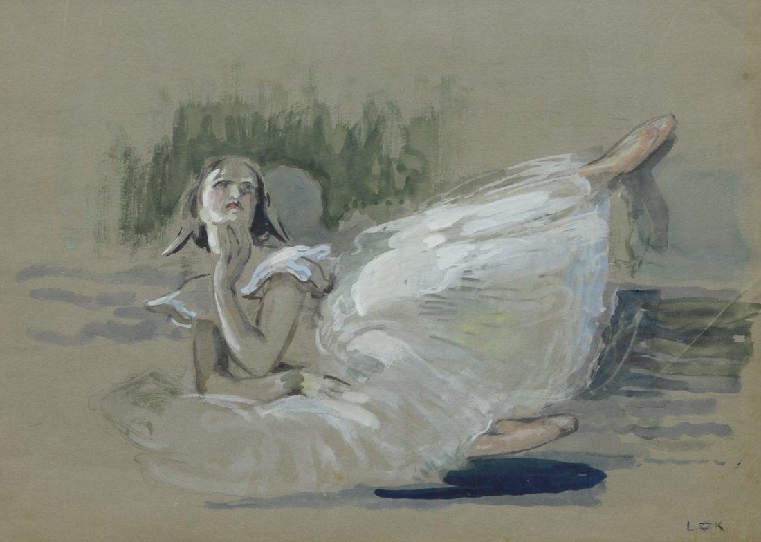 Louis Kronberg (1872-1965), Gouache Sketch of a