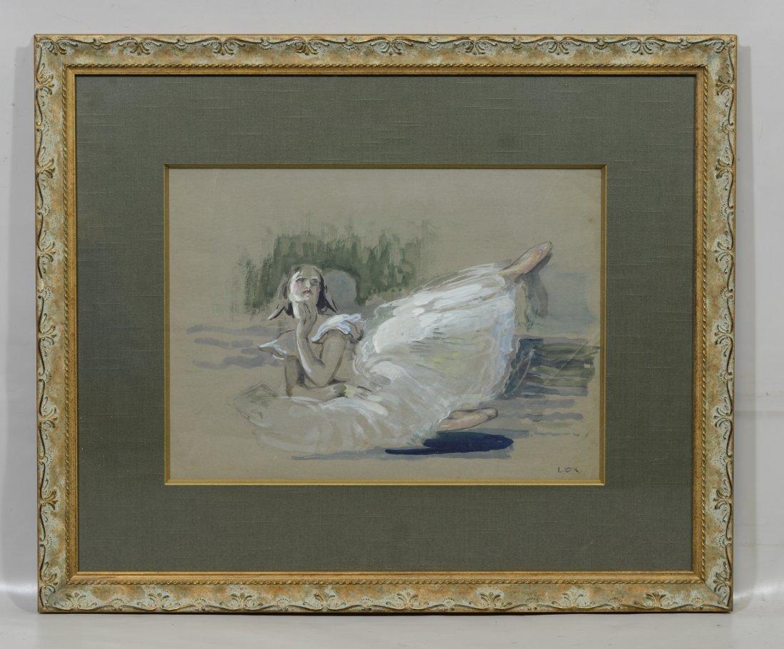 Louis Kronberg (1872-1965), Gouache Sketch of a - 2