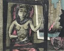 "Benton Spruance (1904 - 1967), lithograph ""Penelope"","