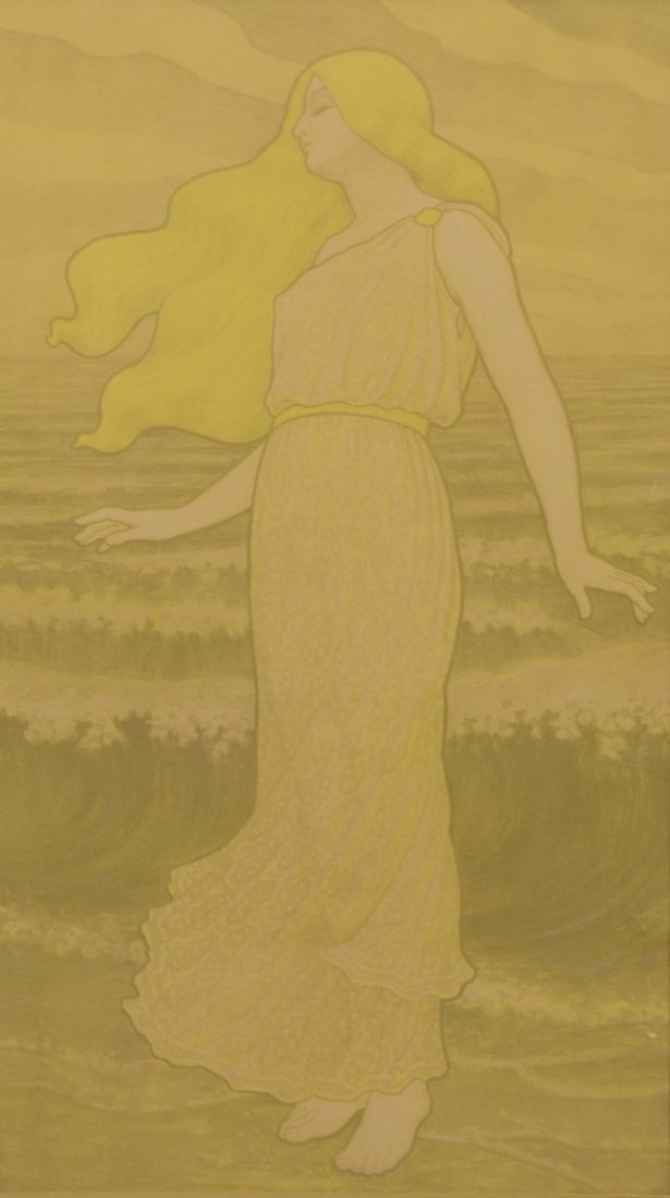 Art Nouveau Lithograph in the style of Paul Emile