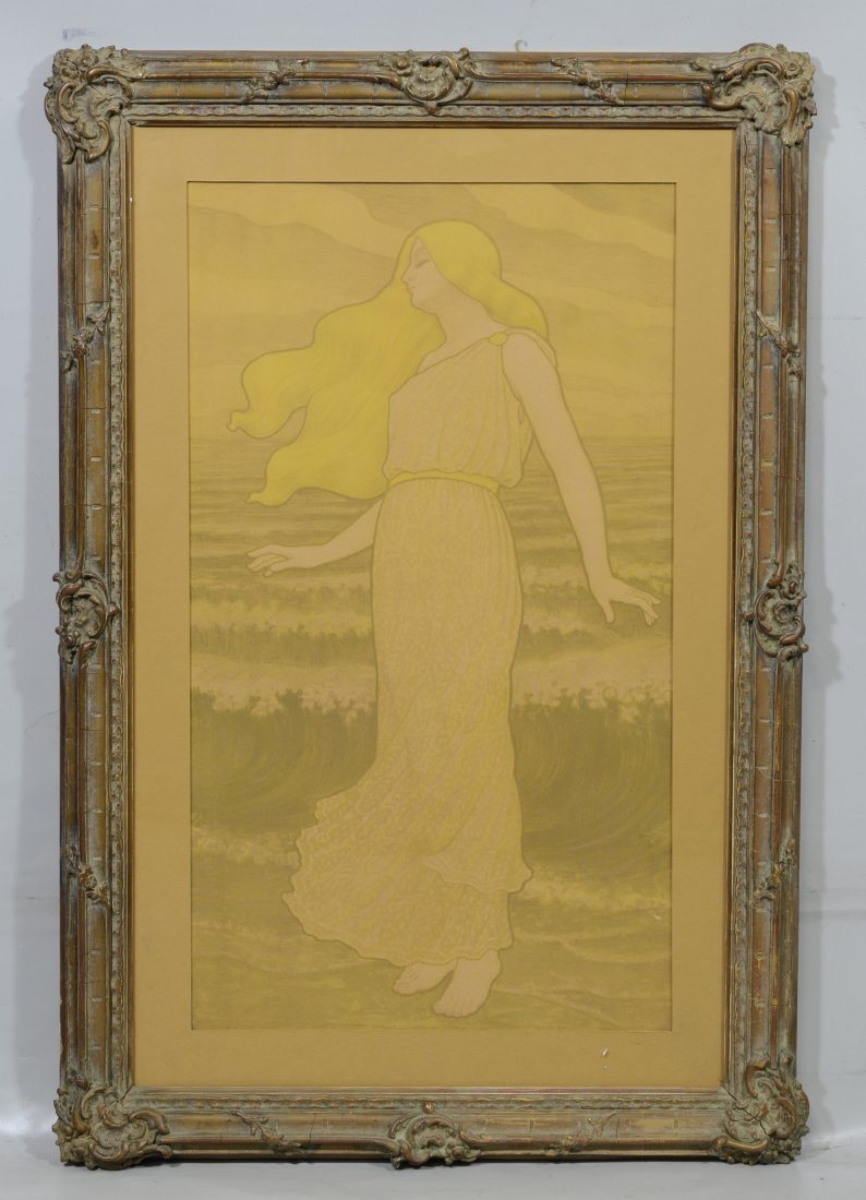 Art Nouveau Lithograph in the style of Paul Emile - 2