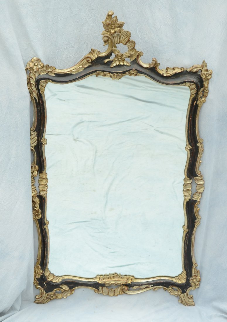 "Italian carved mirror, 51"" h, 30"" w, some losses"