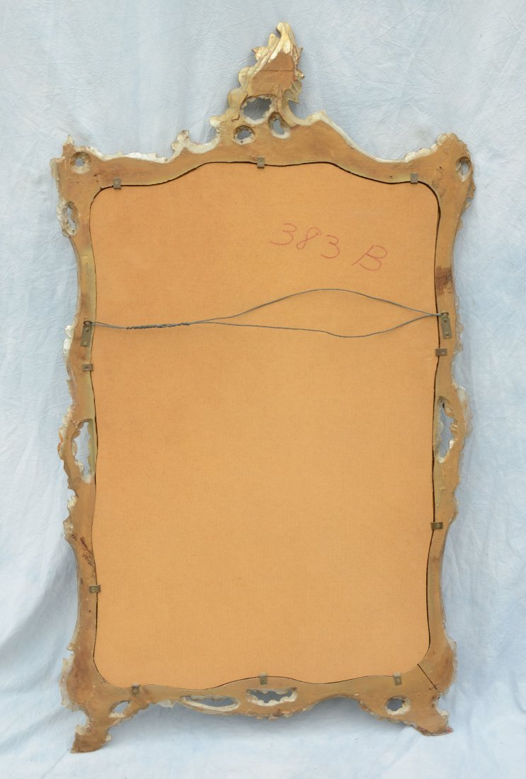 "Italian carved mirror, 51"" h, 30"" w, some losses - 3"