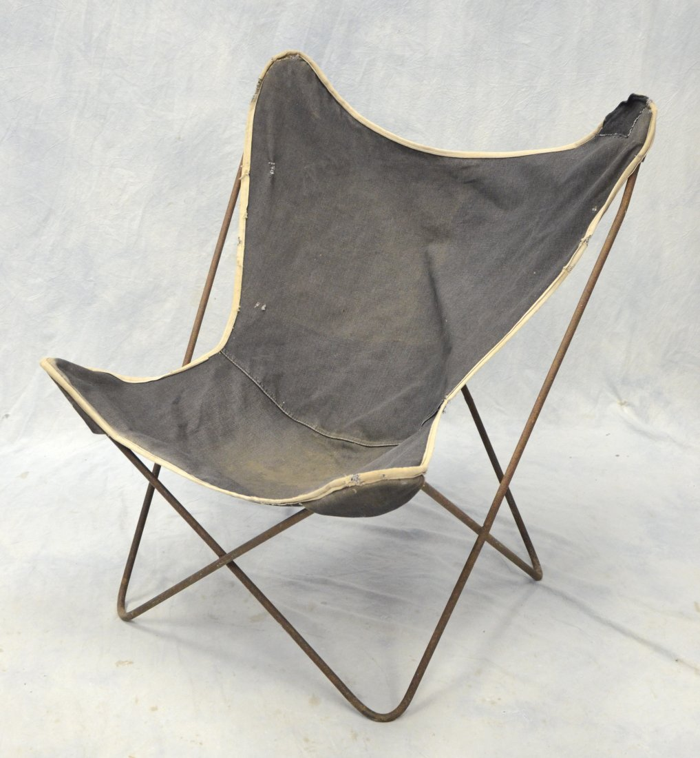 """Wrought iron butterfly chair, 33"""" tall, 30"""" w"""