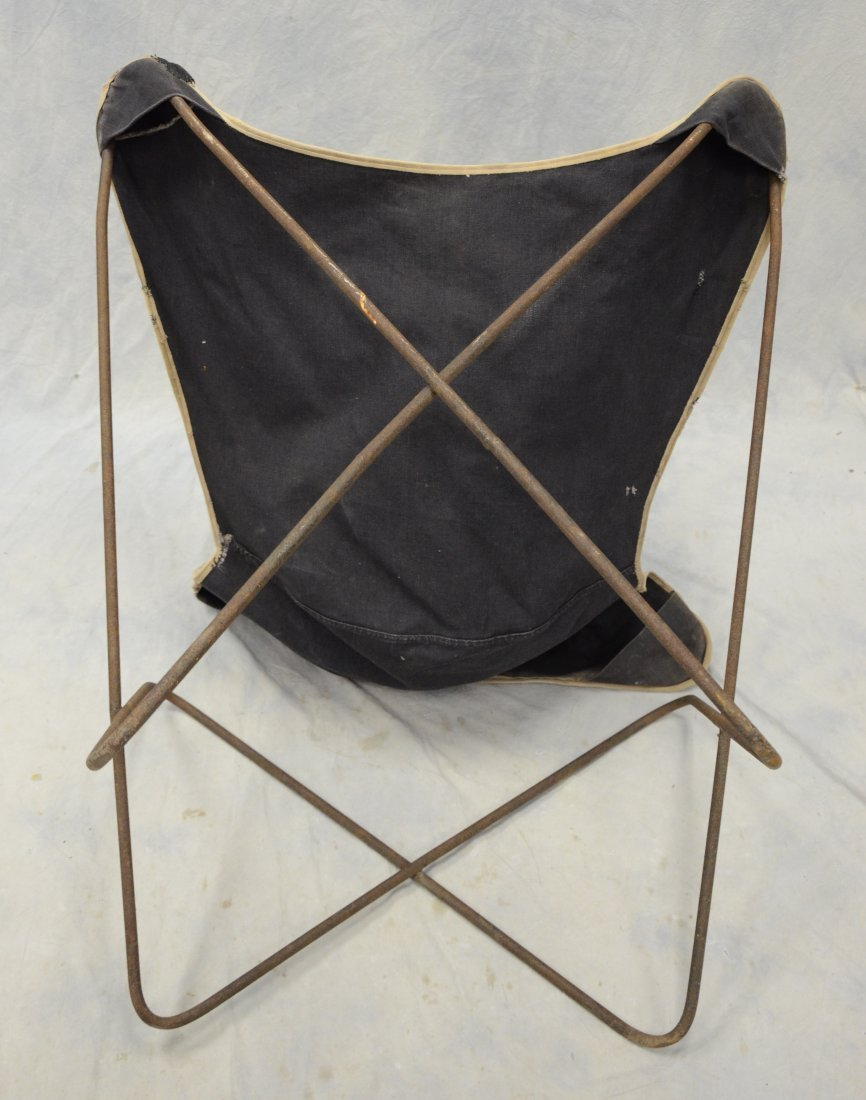 """Wrought iron butterfly chair, 33"""" tall, 30"""" w - 2"""