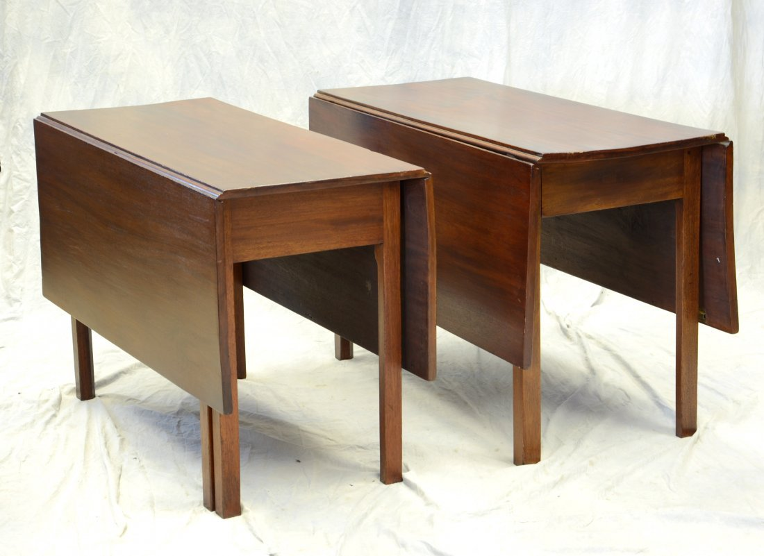 Pair of 19th century mahogany Chippendale style drop