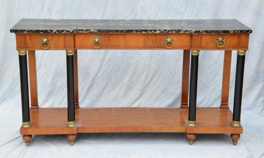 Marble top console table by Wm A Berkey Furniture Co
