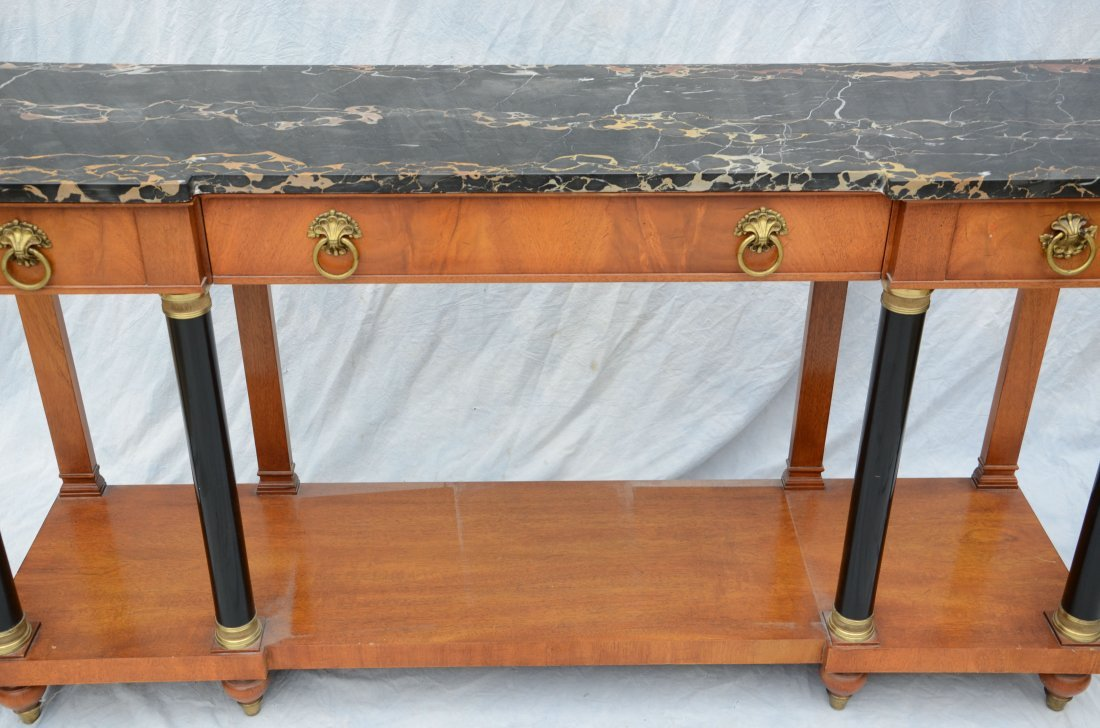 Marble top console table by Wm A Berkey Furniture Co - 2