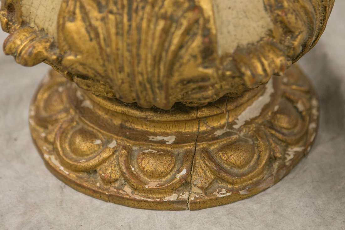 2 Palladio Carved and gilded Wood Italian marble top - 4