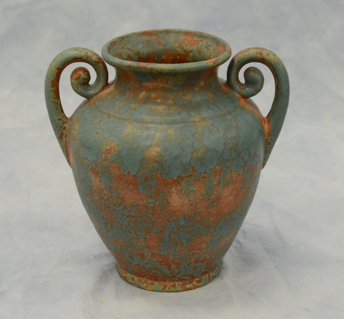 Burley Winter double handled pottery vase , unsigned,