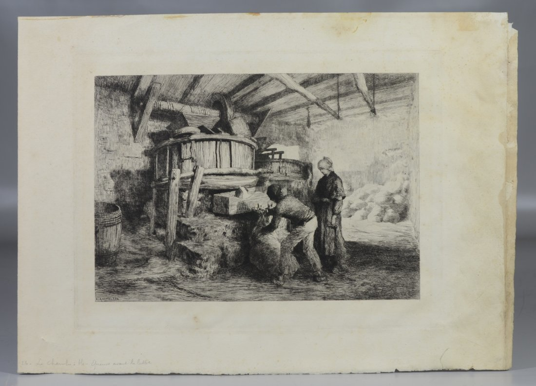 Eugene Higgins- Christmas- etching, 1927, signed in - 2