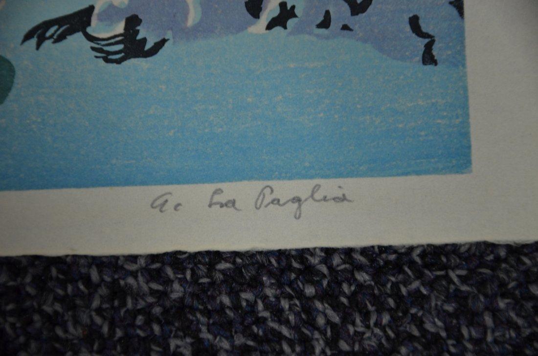Anthony Lapaglia, 20th c, (2) woodblock prints, Snowy - 4
