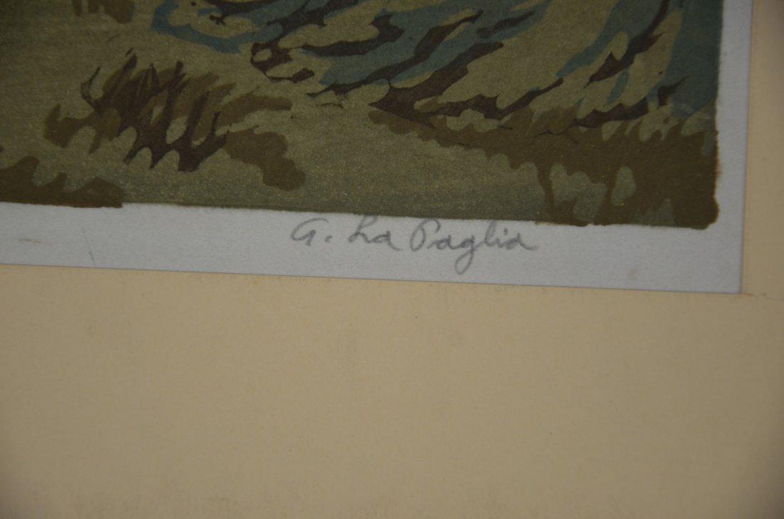 Anthony Lapaglia, 20th c, (2) woodblock prints, Snowy - 5