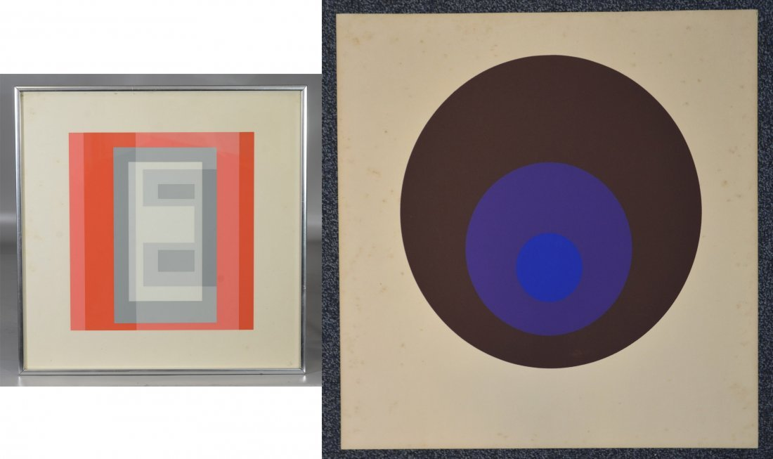 Joseph Albers, silkscreen, unsigned, titled in pencil