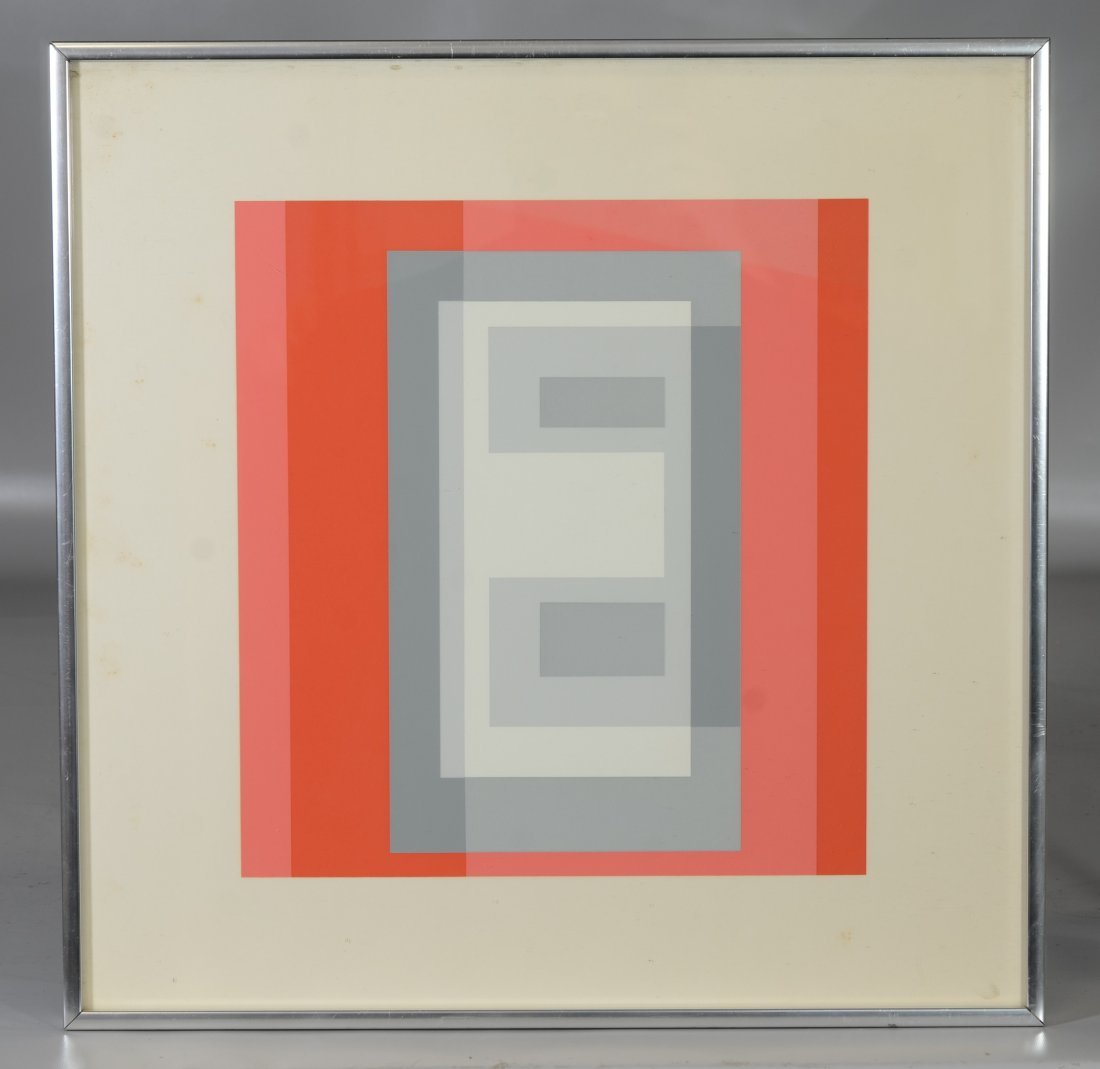 Joseph Albers, silkscreen, unsigned, titled in pencil - 2