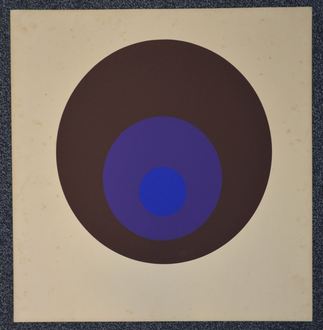 Joseph Albers, silkscreen, unsigned, titled in pencil - 6