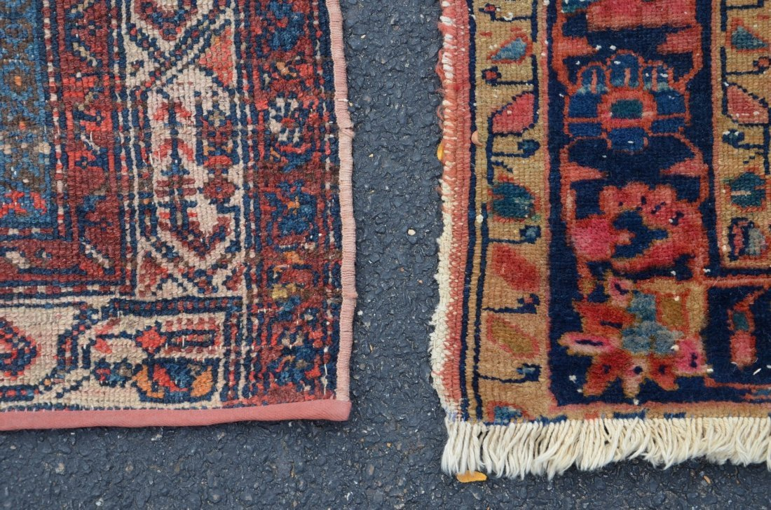 "(2) Carpets: Hamadan Carpet, 5' x 6'7"" and Caucasian, - 2"