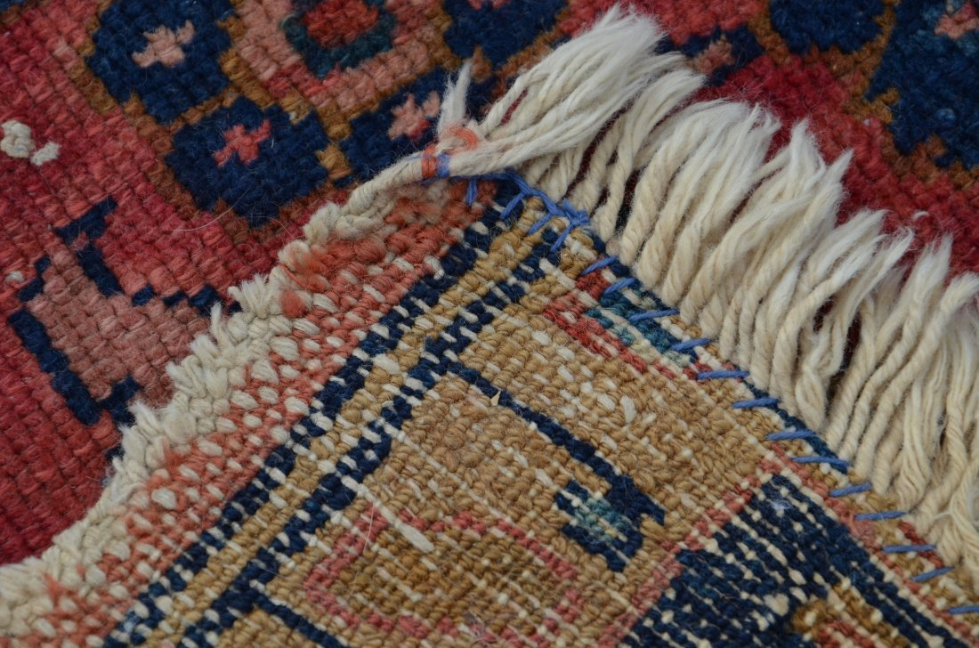 "(2) Carpets: Hamadan Carpet, 5' x 6'7"" and Caucasian, - 4"