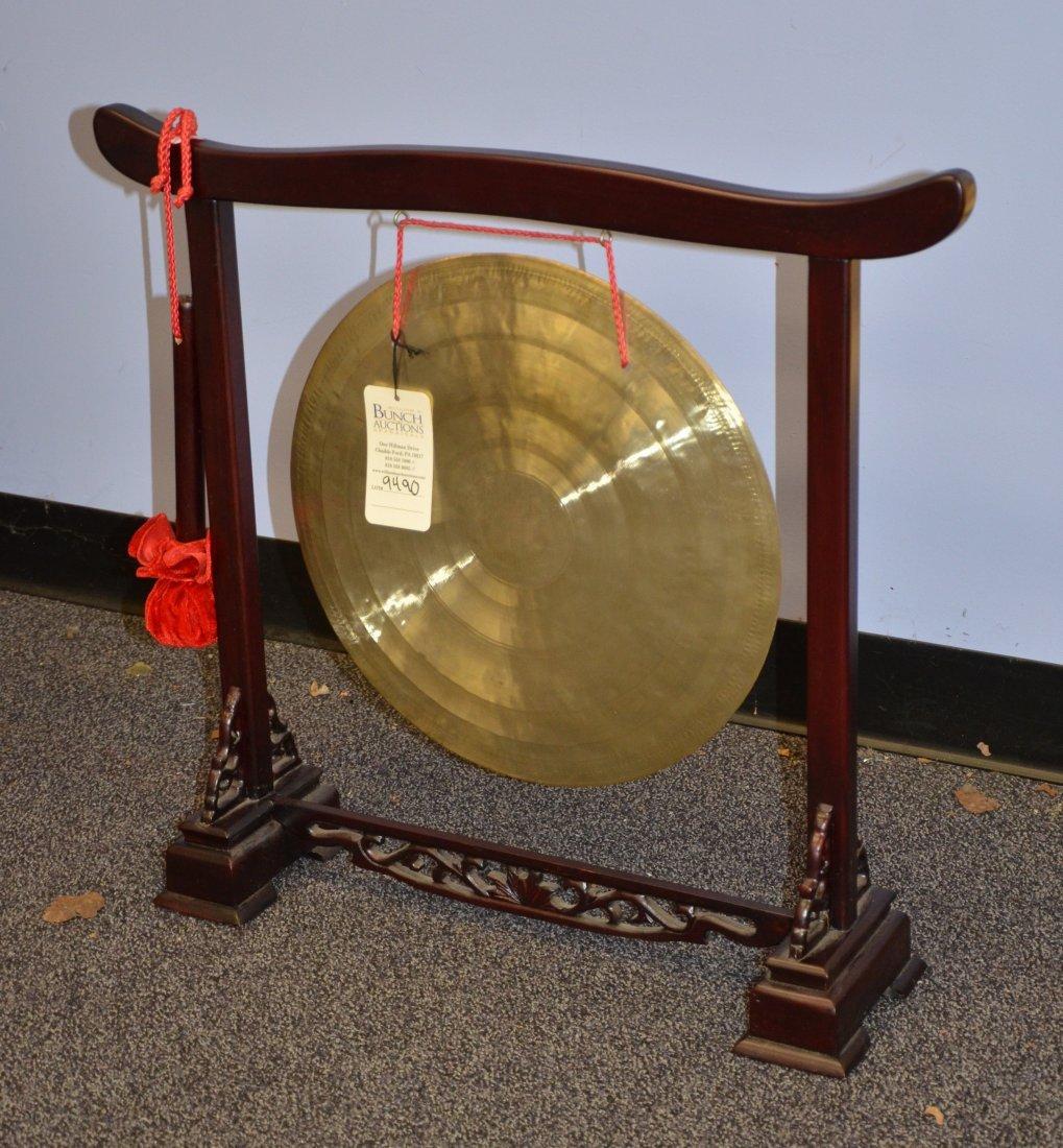"""Korean dinner gong, 26"""" w x 24"""" h, gong diameter 16"""""""