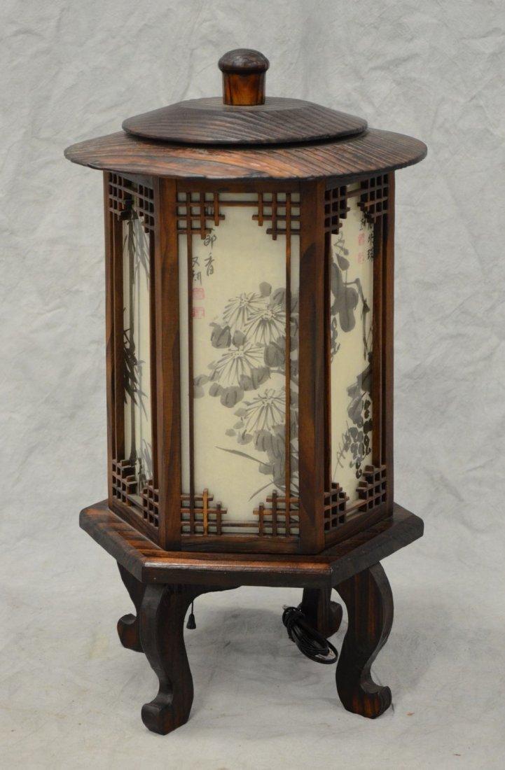 "Korean electric hexagonal lantern, 28"" h"