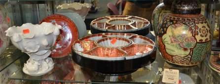 4 Pieces Asian pottery including ginger jar Kutani