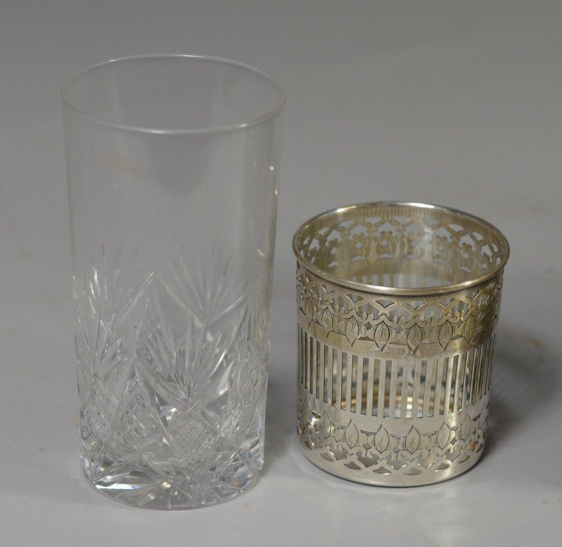 Assembled drink set, including (6) sterling silver - 2