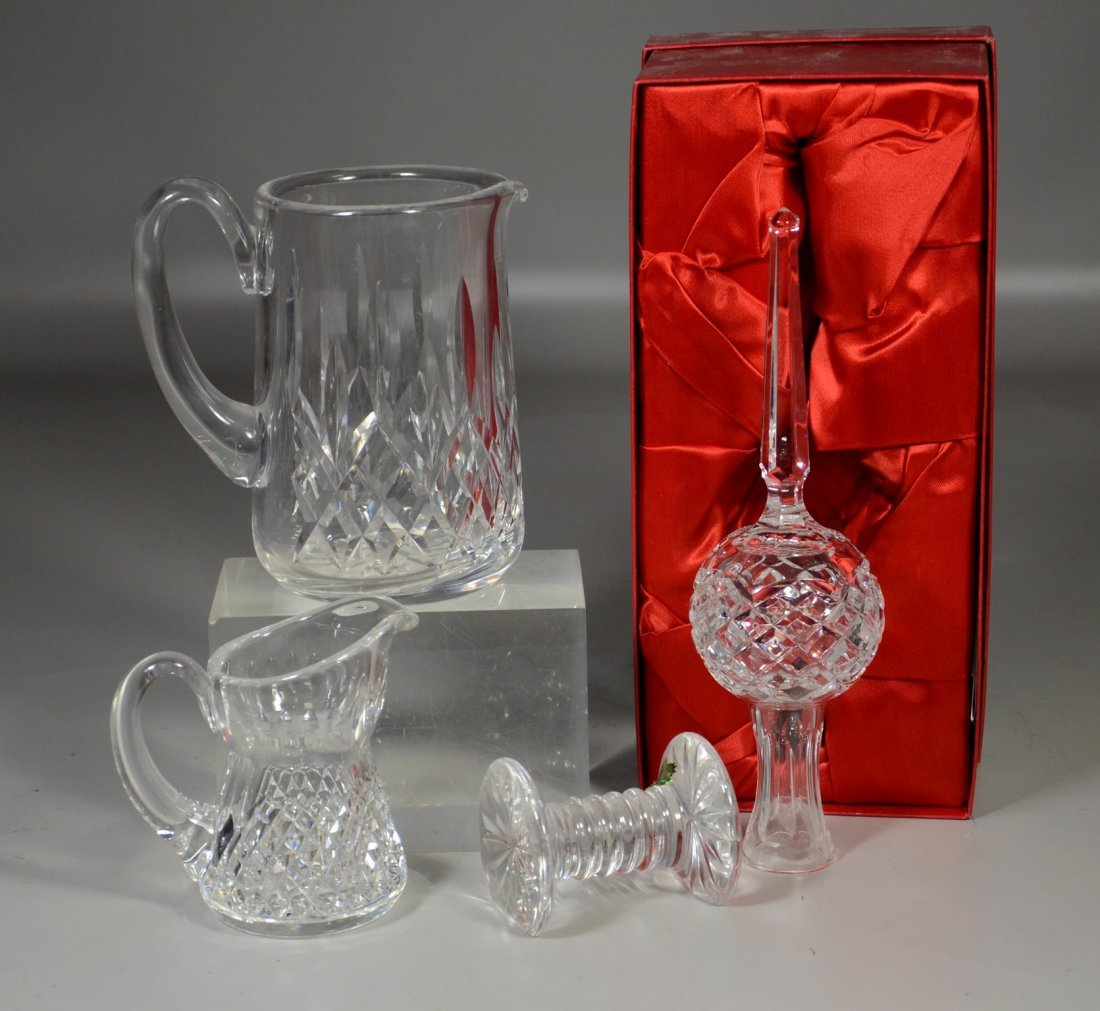 (4) Pieces Waterford crystal, including Christmas tree