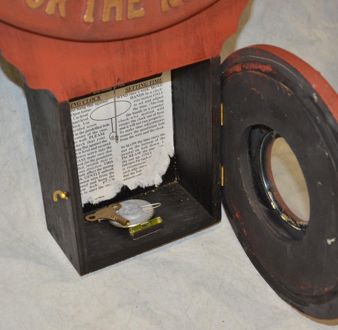 "Replica Baird Moxie advertising clock, 32"" h - 3"