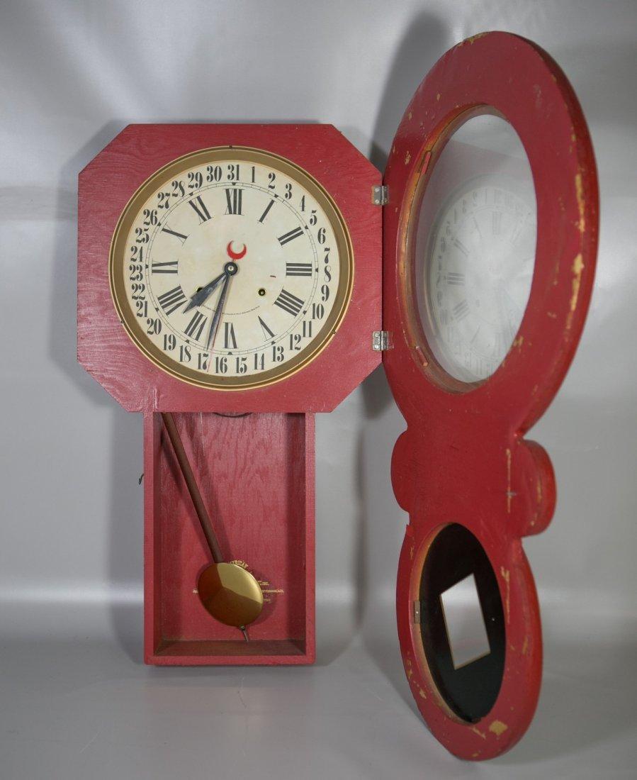 "Replica Jolly Jar advertising clock, 32"" h - 2"