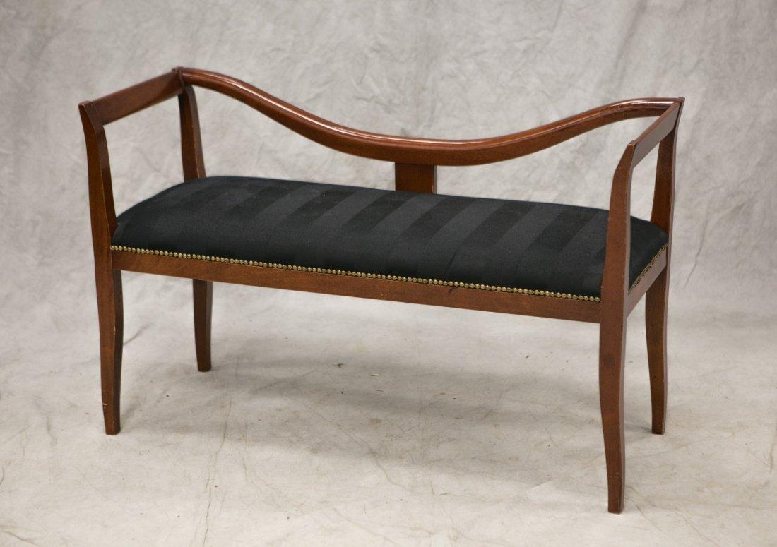 Custom Regency style window seat, custom made in Italy,