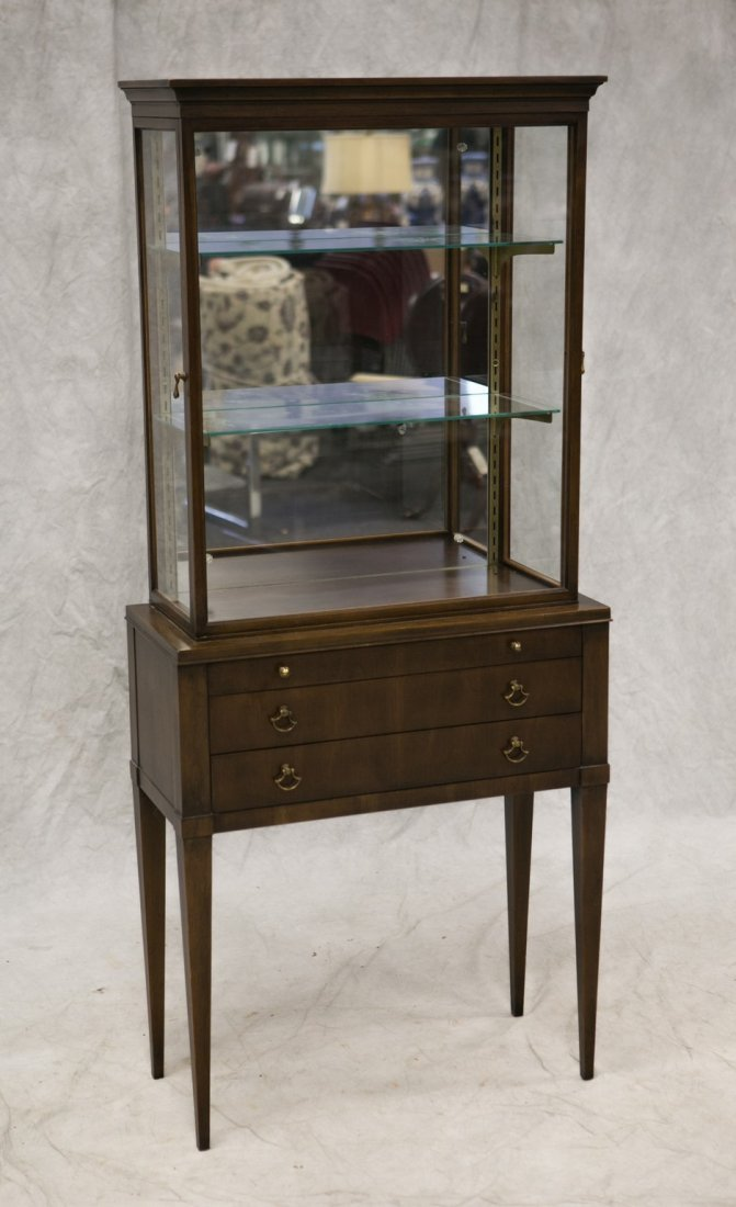 Custom cherry vitrine curio cabinet, cherry veneers and