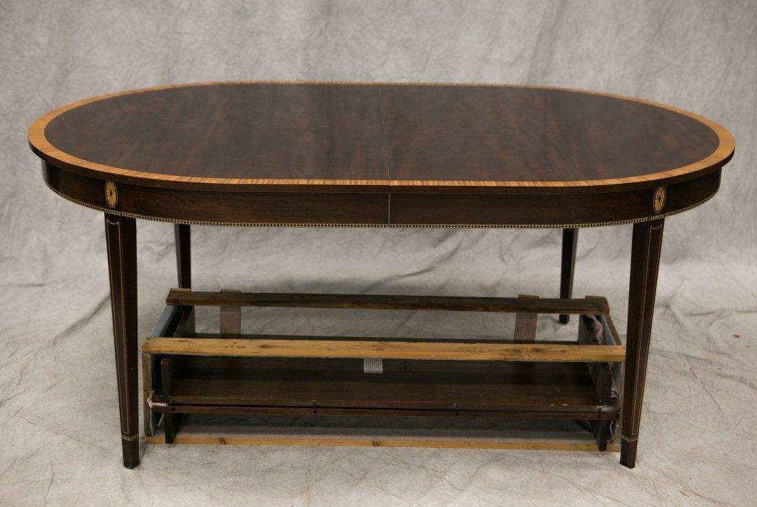 Stickley custom banded mahogany dining table, mahogany