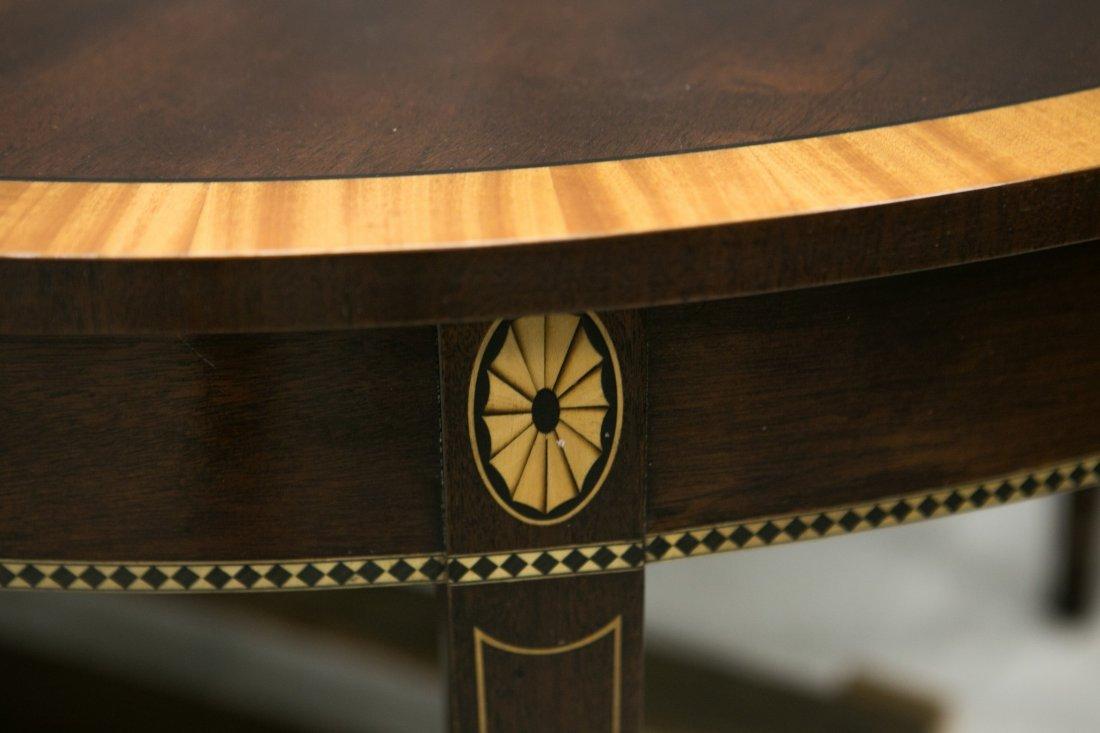 Stickley custom banded mahogany dining table, mahogany - 2