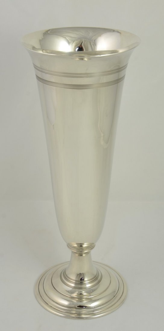 "Tiffany & Co Sterling Silver Vase, marked ""Tiffany &"