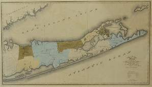 1829 Map of the County of Suffolk by David M Burr