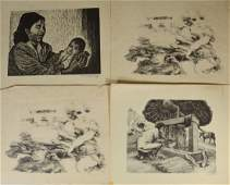 Group of 10 assorted lithographs eight 8 penciled