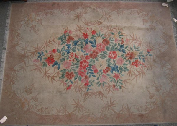 17: 8.3 x 11 sculptured Chinese rug