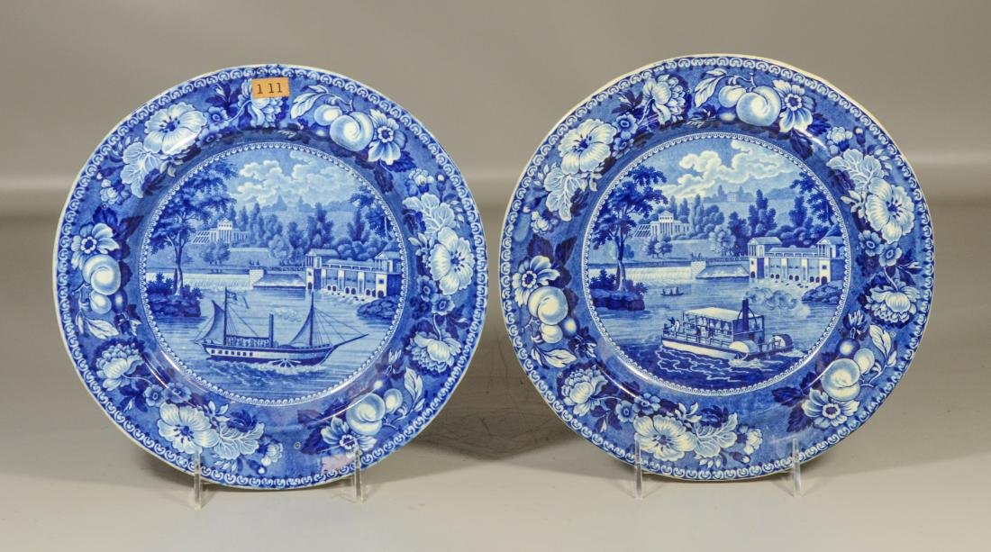 "2 Staffordshire ""The Dam and Waterworks Philadelphia"""