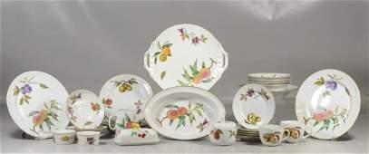 "99 Pieces of Royal Worcester ""Evesham"" dinnerware: 18"