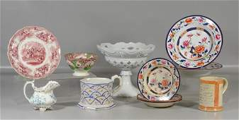11 Pieces of English pottery and ironstone to include