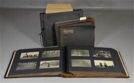 (4) family photograph albums, c 1900-1930, from