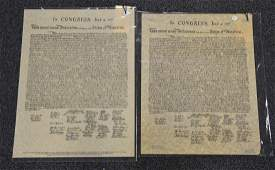 2 copies of the Declaration of Independence one