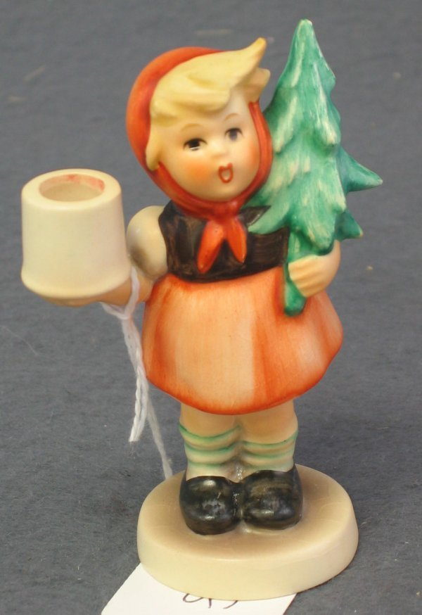 1018: Hummel Figurine, Advent Candlestick, Girl with Fi