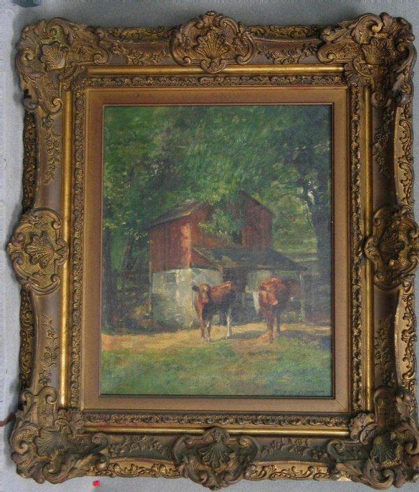 1515: Frank Ashley Linton  (1871 - 1944) Oil on canvas.