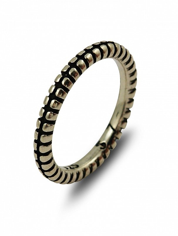 PLAIN SILVER STRIPED AND SPLIT DESIGN STACKABLE BAND