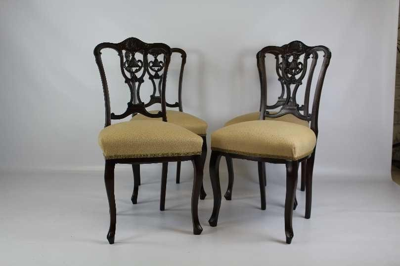 Four George III Mahogany Dining Chairs