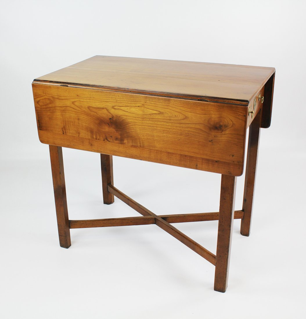 A Pennsylvania Chippendale Cherry Pembroke Table